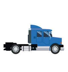 Semi trailer truck transportation isolated on vector