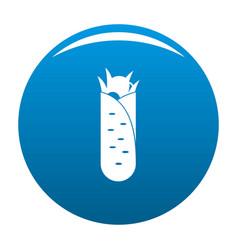 Shawarma icon blue vector