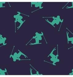 Ski downhill or mogul seamless pattern vector