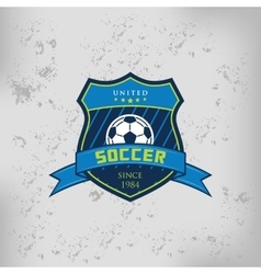 Soccer Football Badge Logo Emblem Design Templates vector image