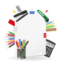 stationery set 02 vector image vector image