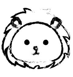 Stuffed animal lion vector