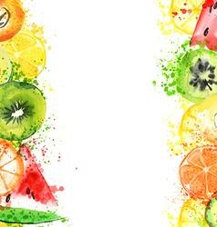 Watercolor fruits vector