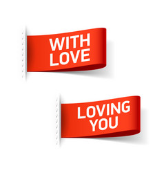 With love and loing you clothing labels vector