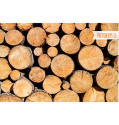 Wood log background vector