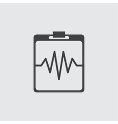Heartbeat cardiogram icon vector