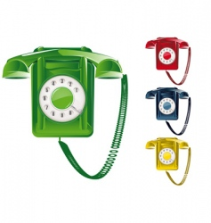 retro telephone illustration vector image