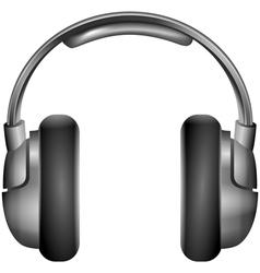 Isolated metallic headphones vector image