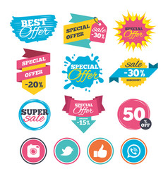 Hipster photo camera like chat speech bubble vector