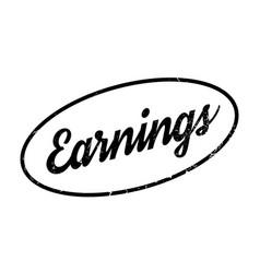 Earnings rubber stamp vector