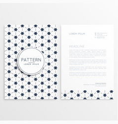 Clean letterhead design with abstract pattern vector