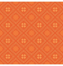 Bright orange seamless pattern vector
