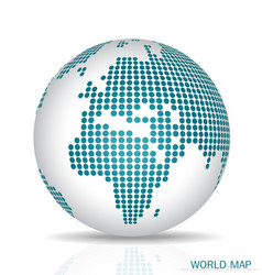Dotted Globe vector image
