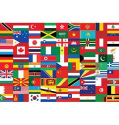 Seamless flags background vector