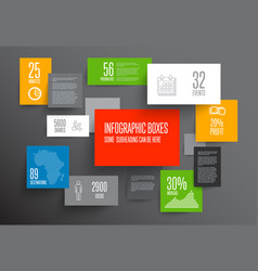 Abstract boxes infographic template vector