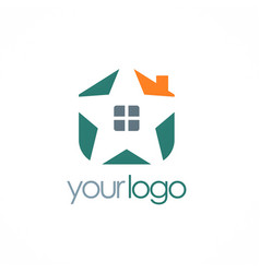 star house color logo vector image