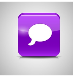 Glass chat button vector