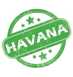 Havana green stamp vector