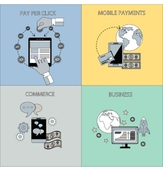Internet business and payment concepts vector