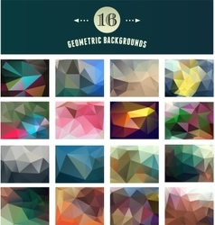 Set of polygonal geometric abstract elements vector