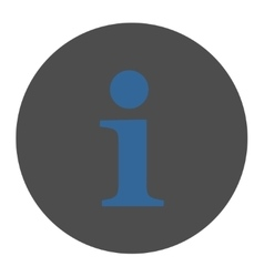 Info flat cobalt and gray colors round button vector