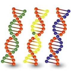 Seamless dna strands vector