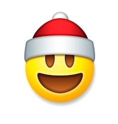 Santa claus emoticon laughing holiday emoji vector