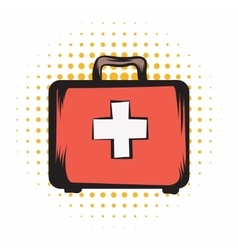 Medicine chest comics icon vector