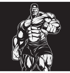 The coach of bodybuilding and fitness vector image