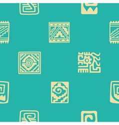 Seamless pattern with American Indians relics vector image