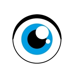 Blue eye icon look and view design vector