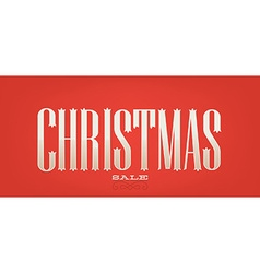 Christmas sale banner vector