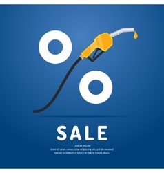Poster advertising a discount on fuel vector