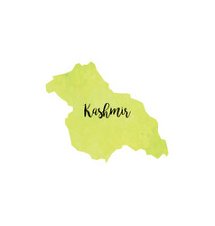 abstract kashmir map vector image vector image
