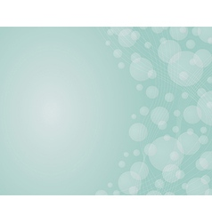 background with the dynamic lines and bubles on vector image vector image