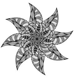 Black rosette ornament vector