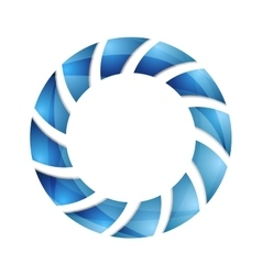 Blue abstract concept circle logo design vector