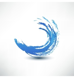 Blue wave sign vector image vector image