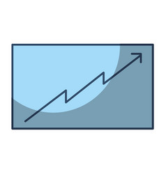 board presentation graph arrow growth vector image vector image