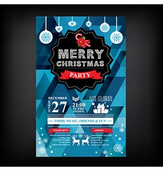 Christmas restaurant and party menu invitation vector image