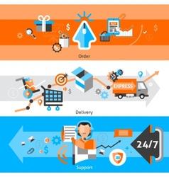 E-commerce banners set vector