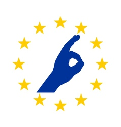 European finger signal vector image