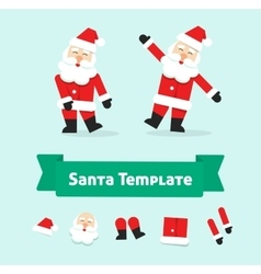 Funny dancing santa claus isolated father vector