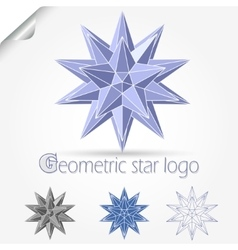 Geometric star logo vector