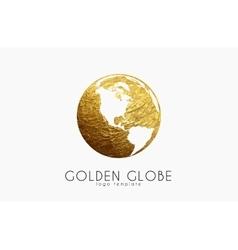 Globe sign Golden globe logo Creative logo vector image vector image