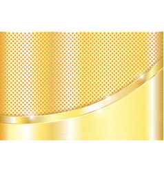 Golden background gold metal plate with vector