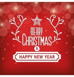 greeting christmas and happy new year graphic vector image