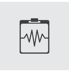 Heartbeat cardiogram icon vector image