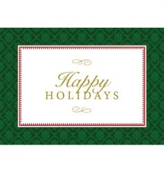 holidays frame vector image vector image