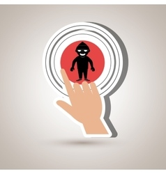Human hand selecting isolated icon design vector